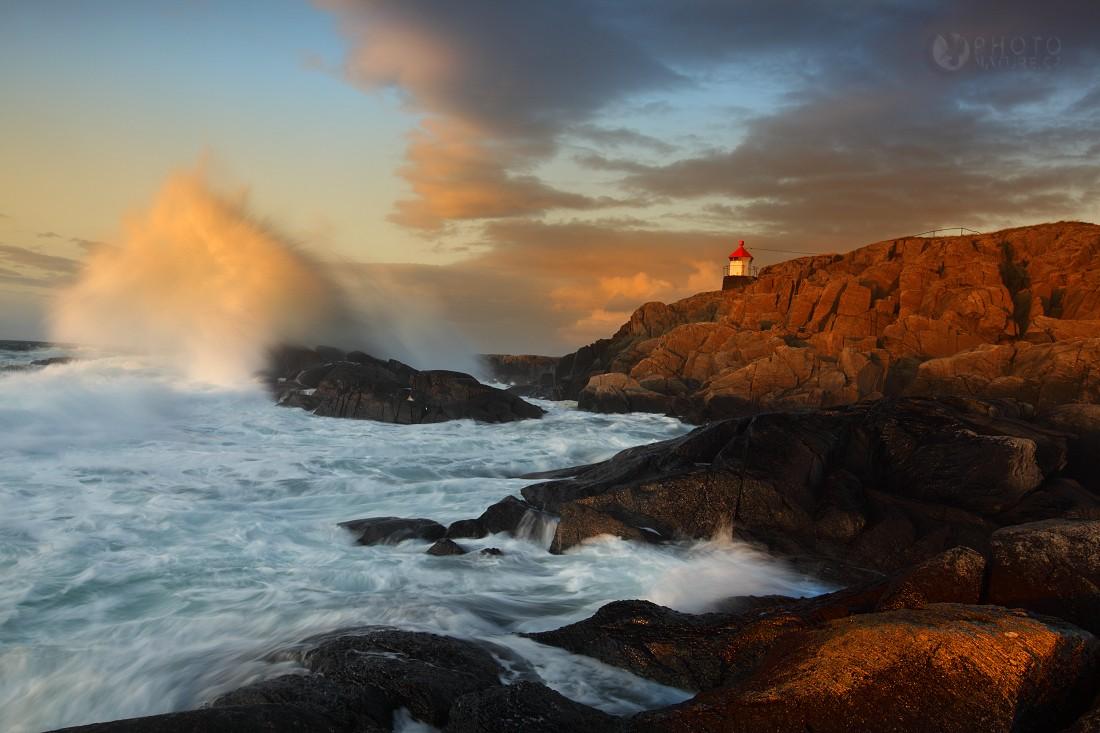 Lighthouse on the island Runde