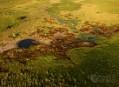 Delta řeky Okawango, pohled očima bohů