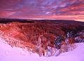 Bryce canyon, chladná a růžová rána