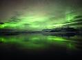 Island, polární záře v zemi větru a ledu