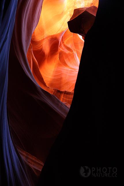 Antelope Canyon  Indi U00e1nsk U00fd Sv U011bt Barev A St U00edn U016f